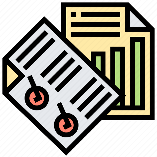 analysis, business, marketing, paper, report icon