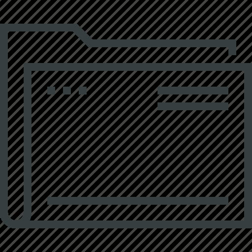archive, computer, document, empty, file, folder, storage icon