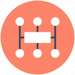 business process, management, networking, organization structure, workflow icon