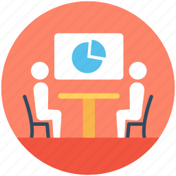 business meeting, discussion, meeting, presentation, project presentation icon