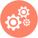 cogs, cogwheels, gear, gearwheel, settings icon