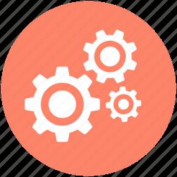 cogs, cogwheels, gear, gearwheel, settings icon