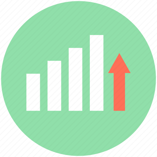 bar graph, business chart, growth chart, infographic, progress icon