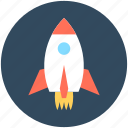 business launch, missile, rocket, spacecraft, spaceship icon