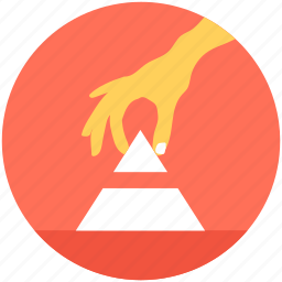 analytics, diagram, pyramid, stock, triangle icon