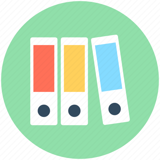 archives, binder, documents, file folders, files rack icon