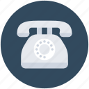 contact us, landline, phone, telephone, vintage phone icon