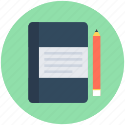 diary, notebook, notepad, notes, pencil icon