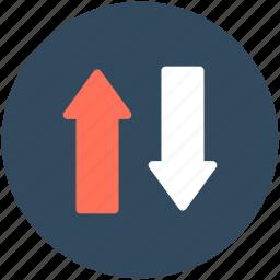 arrows, data exchange, data transfer, down arrow, up arrow icon