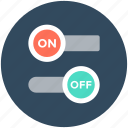 off button, on button, on off, power button, switch, toggle buttons icon