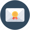 envelope, letter, official letter, postage, sealed envelope icon