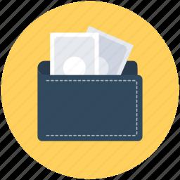 billfold wallet, card holder, coin wallet, purse, wallet icon