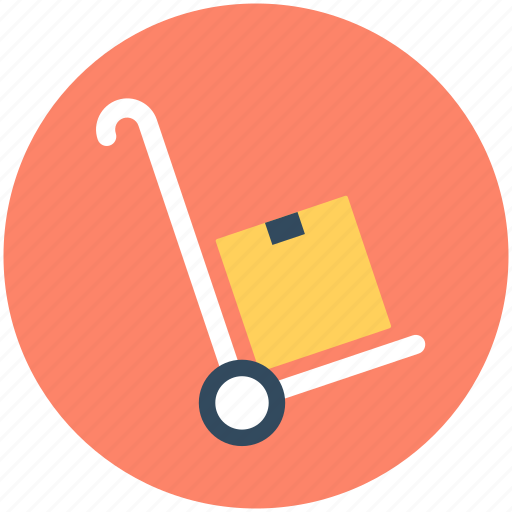 hand trolley, hand truck, luggage cart, packages, parcel icon