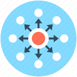 business, network, social connection, social network, viral marketing icon