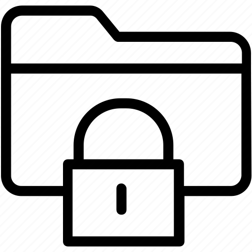 data security, encryption, folder security, locked folder, secret files icon