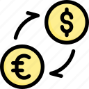 finances, money, currency, exchange, dollar, commerce, euro icon