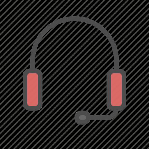 customer, headphone, service, telemarketer, telemarketing icon
