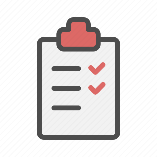 checklist, list, note icon