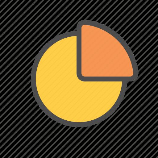 analytic, chart, data, pie icon