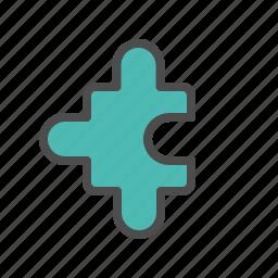 puzzle, solution, team, teamwork icon
