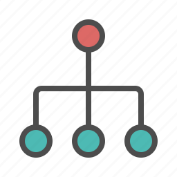 hierarchy, organization, team, teamwork icon