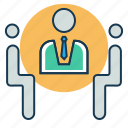 business, interview, job, meeting, office icon