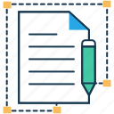 bond, business agreement, content, content resources, text, write icon