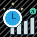 analytics, business plan, development plan, growth rate, marketing, productivity icon