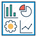 business analysis, dashboard, growth, job analysis, report icon