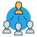 employees, group, hierarchy, management team, specialist, team members icon