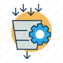 growth, metrics, site conversion, site management icon