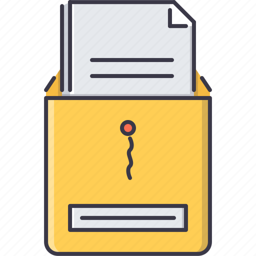 business, document, job, letter, office, work icon