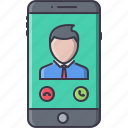 business, call, job, office, phone, smartphone, work icon