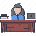 boss, business, director, job, office, table, work icon