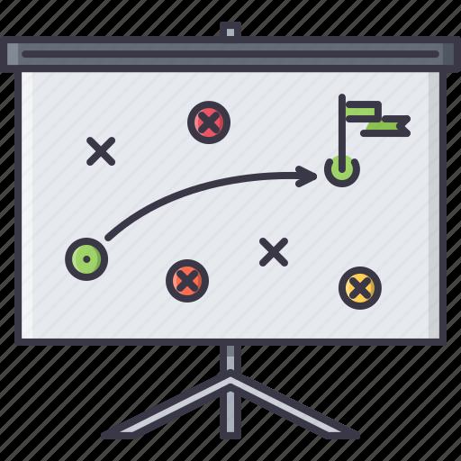business, job, plan, presentation, strategy, work icon
