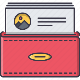 business, card, job, partnership, visiting, work icon