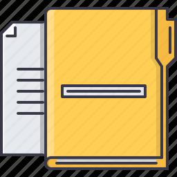 business, data, document, folder, job, office, work icon
