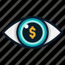 business, dollar, eye, finance, money, view, vision