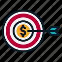 achievement, goal, money, profit, target