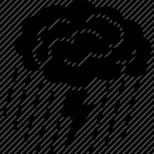 brain, brainstorm, brainstorming, idea, mind, storm, thinking icon