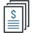business, document, dollar, money, plan, profit, saving icon