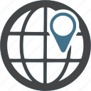 global, gps, international, location, pin, worldwide icon