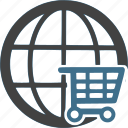 cart, global, international, shipping, shop, shopping, worldwide icon