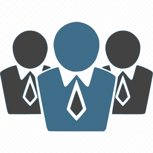 businessman, customers, group, leader, leadership, team, teamwork icon