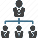 connection, hierarchy, leader, leadership, team, teamwork icon