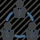 businessman, ciecle, connection, network, team, teamwork, work