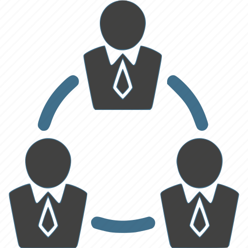 businessman, ciecle, connection, network, team, teamwork, work icon
