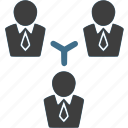 businessman, connection, network, team, teamwork, work icon