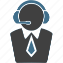 businessman, call service, customer support, help, info, information icon