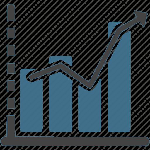 bar chart, chart, graph, income, increase, infographer, presentation icon
